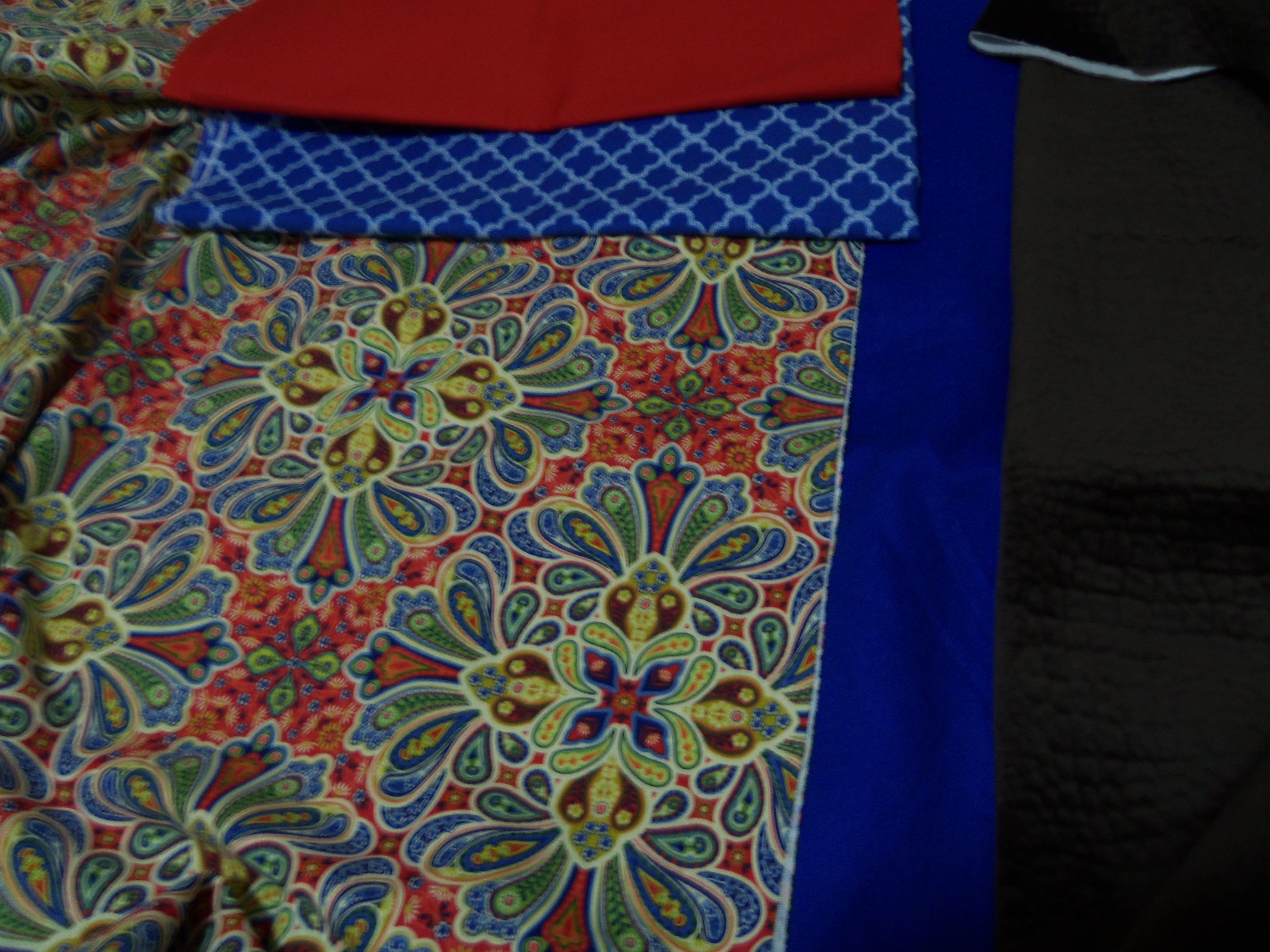 Fabrics From Hancocks Fabrics (Red & Blue Paisley Print Canvas)