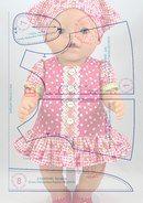 Альбом № 6   Выкройки для кукол типа Беби -Берн #girldollclothes