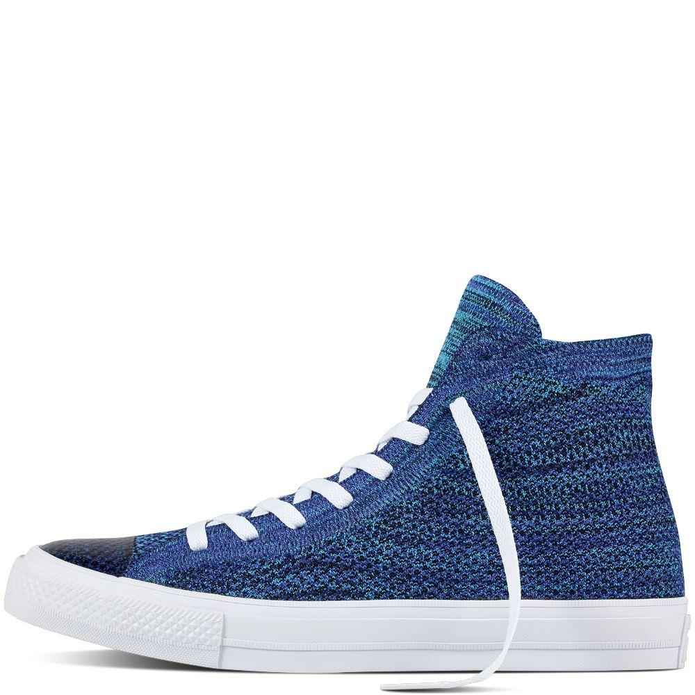 bdd650824e80 Chuck Taylor All Star X Nike Flyknit True Indigo Chlorine Blue