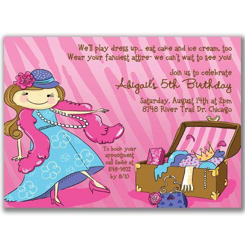Up Birthday Party Invitations – Dress Up Party Invitations