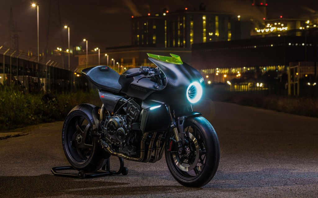 Honda CB4 Interceptor, Concept Motorcycle, Bike, 4k
