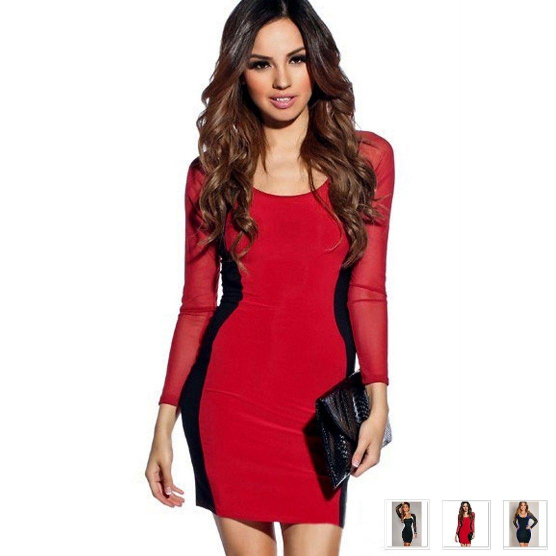 Beautiful Celebrity Style Deep U Neck Women Sexy Dress | Beautiful ...