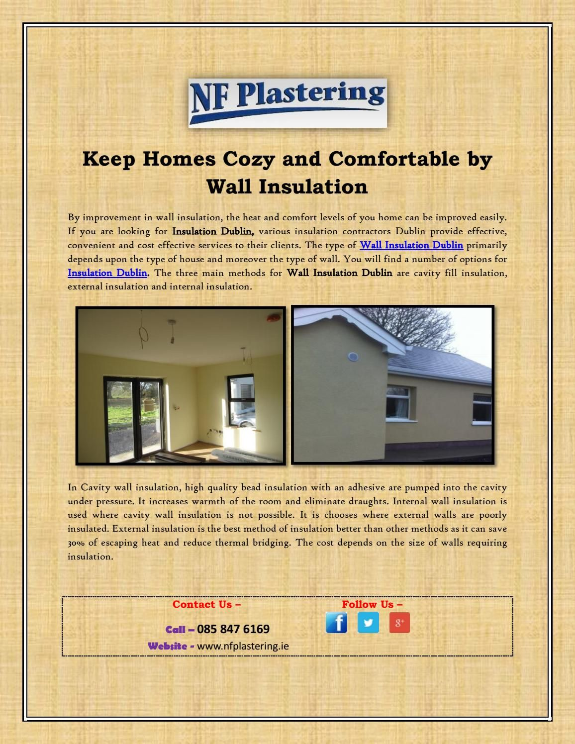 Keep Homes Cozy and Comfortable by Wall Insulation | Wall insulation ...