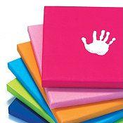 Handprint art canvasses for kids room