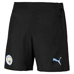 PUMA Man City Men's Woven Shorts in Black/Light Blue size 2X Large #lightblueshorts