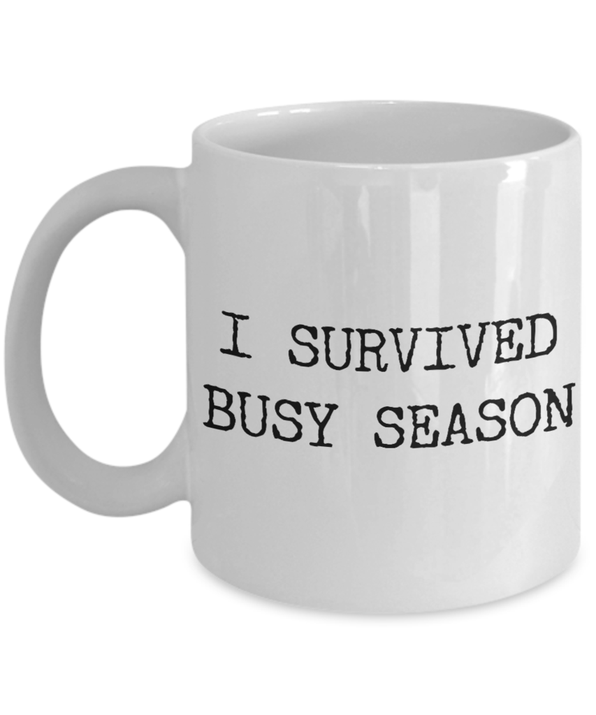 Tax Accountant Mug I Survived Busy Season Tax