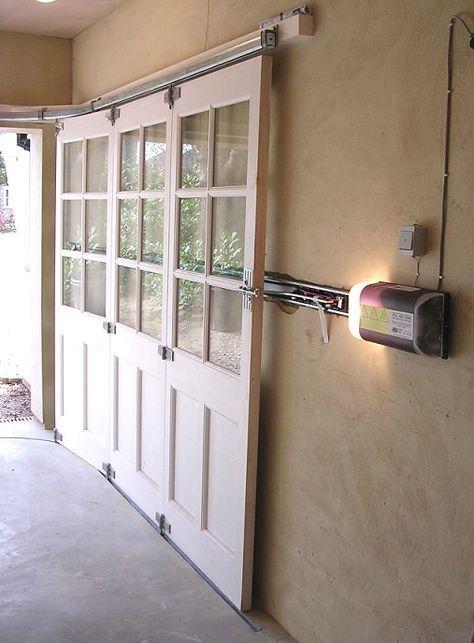 Horizontally Tracked Sliding Doors Automation Garage Decor Garage Doors Sliding Garage Doors