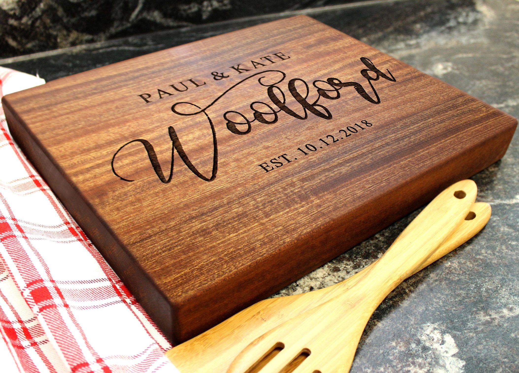 Custom Christmas Gift. Personalized Cutting Board Mango Wood Personalized Wedding Engraved Big Wooden Board Personalized Cheese board