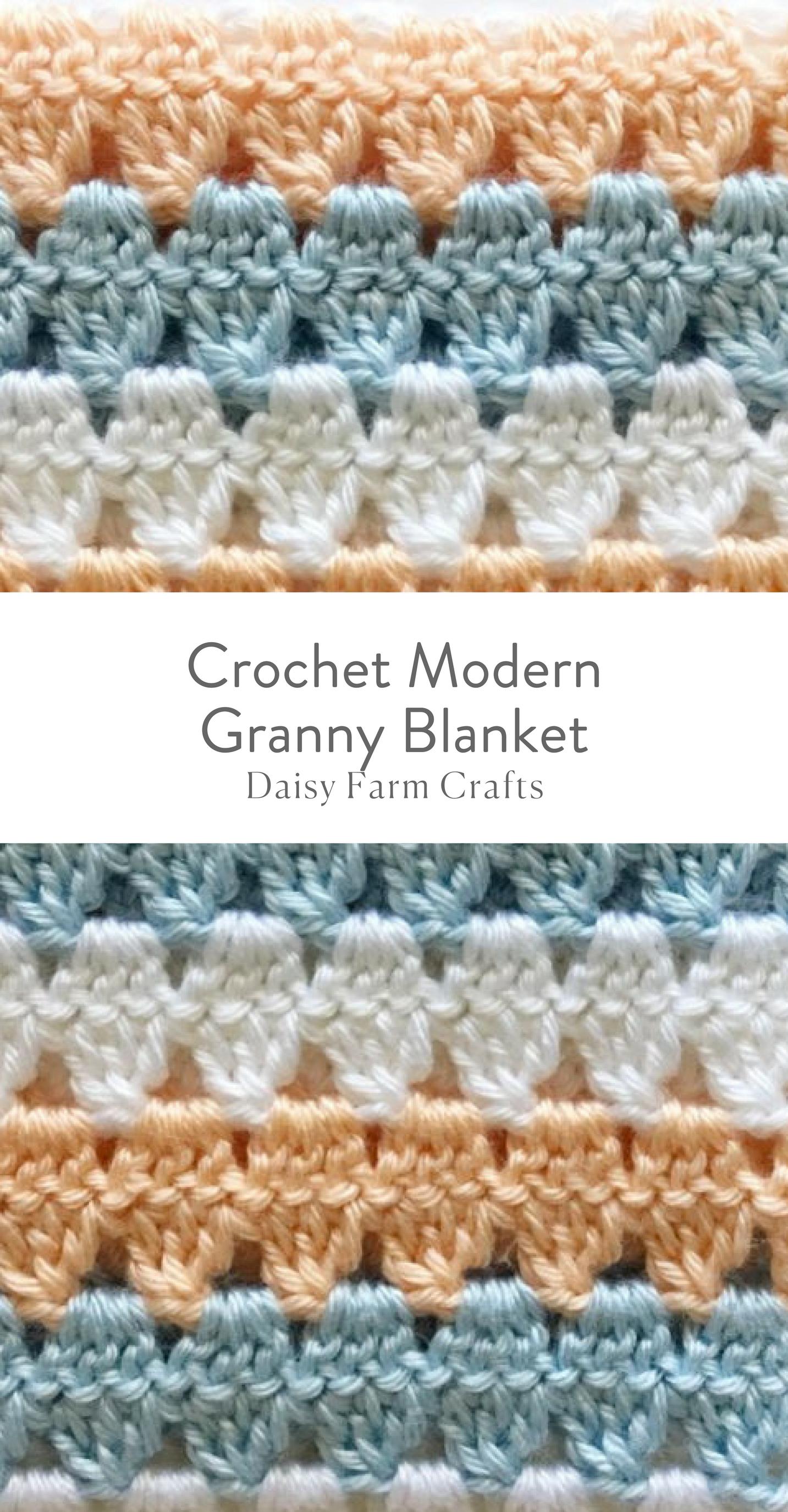 Free Pattern - Crochet Modern Granny Blanket | Knit Wits & Crochet ...