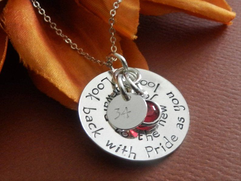 Inspirational retirement gift for woman in sterling silver