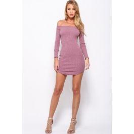 Stranded Dress Purple