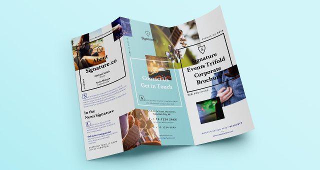 Signature Tri Fold Brochure Template Brochure Templates - event brochure template