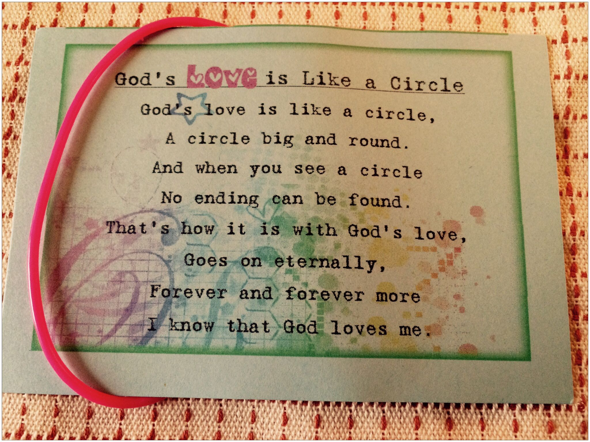 God S Love Is Like A Circle Jelly Bracelet Bible Crafts For Kids