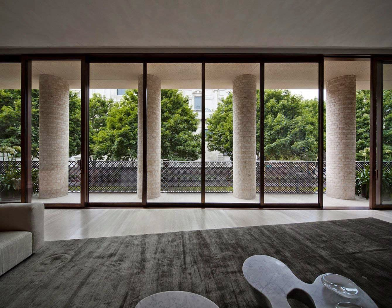 Private house kensington david chipperfield 8 10 cottage for Minimalist house london