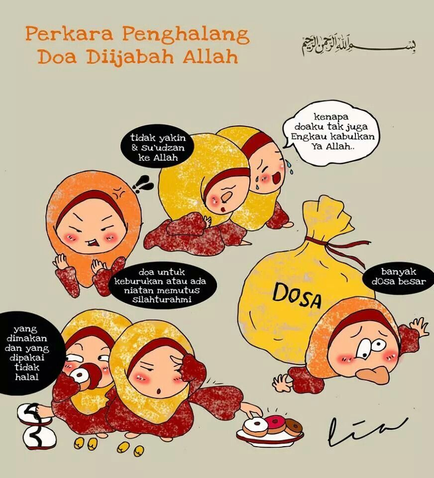 Penghalang Dari Doa Doa Kartun Dakwah Pinterest Islam