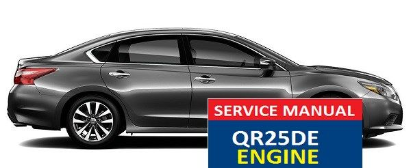 nissan altima service manual qr25de engine nissan altima service rh pinterest com Nissan QR25DE Engine Cover Nissan Sports Car