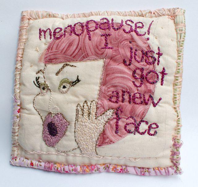 menopause journal quilt by grrl+dog