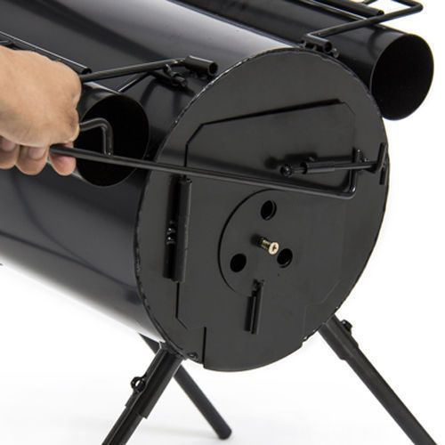 Portable BBQ Wood Stove Pit C&ing Hiking Backpacking Steel Cooking Tent Heater #JustinsDiscountDeals  sc 1 st  Pinterest & Portable BBQ Wood Stove Pit Camping Hiking Backpacking Steel ...