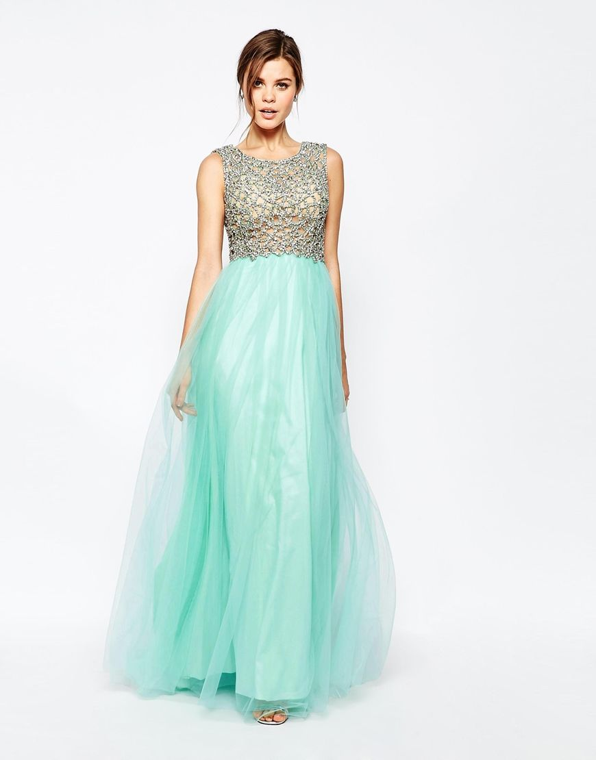 Forever Unique Kaitlyn Maxi Prom Dress with Embellished Bodice ...