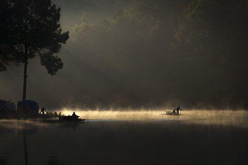 Morning On The Lake by Tippawan Kongto