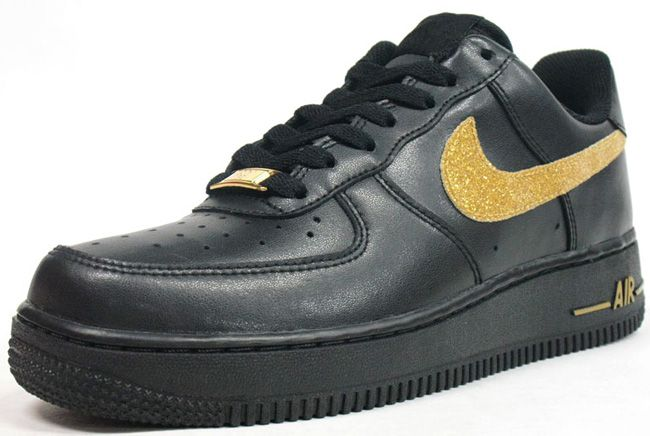 black and gold nike air force low
