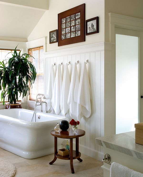 Beautiful Bathroom Towel Display And Arrangement Ideas Bathroom - Bathroom towel hanging ideas for small bathroom ideas