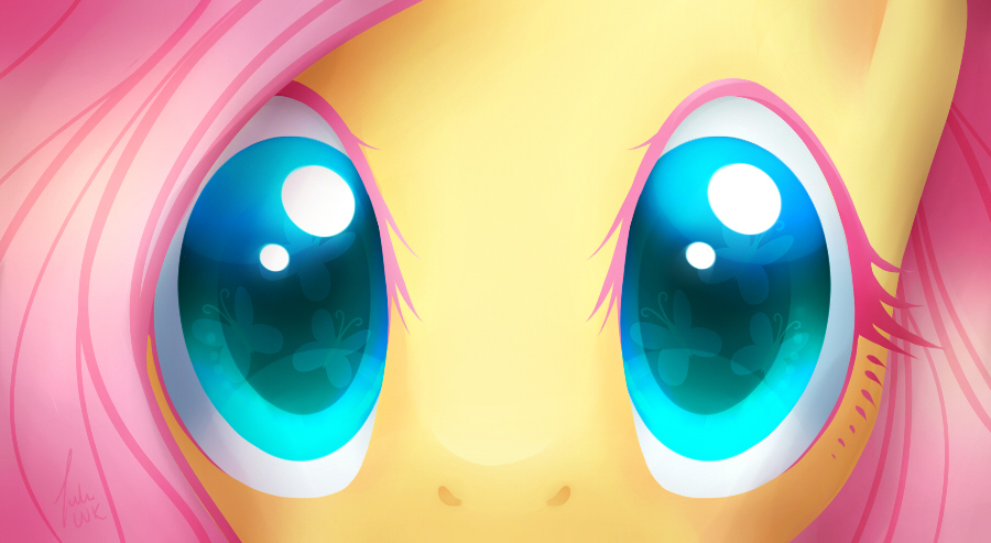 fluttershy, eyes, close-up