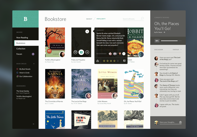 Dribbble - Bookshelf_Full.png by Victor Erixon