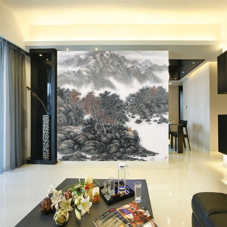 Vintage Chinese Style Landscape Painting Photo Wallpaper Art Wall