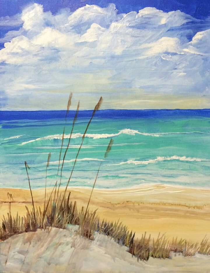The Beach With Images Beach Painting Seascape Paintings