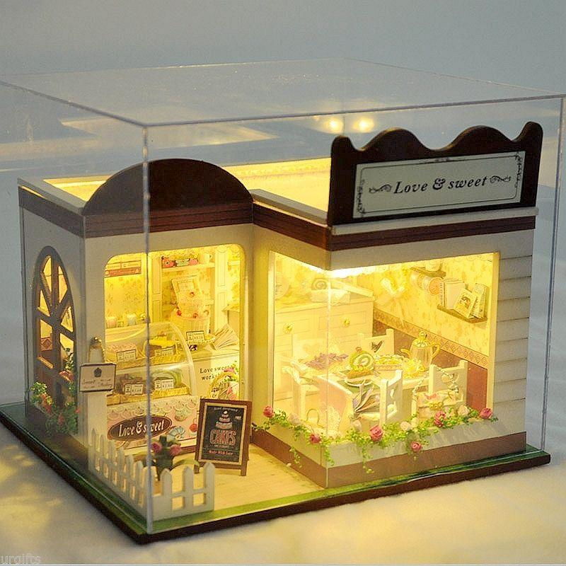 Dollhouse Miniature DIY Model Kit W Cover Love Sweet