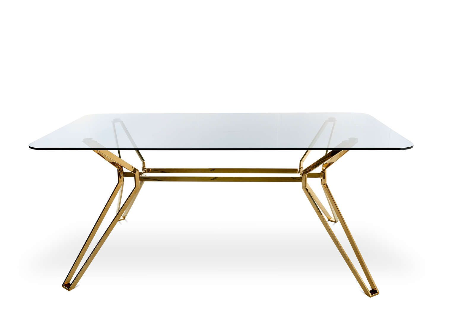 Glass Gold Esstisch Esstisch Glas Tisch