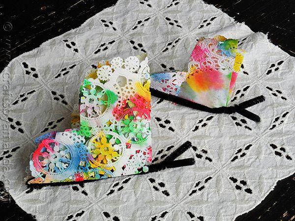 Paper Doily Butterflies Recipe Butterfly Crafts Paper Doilies