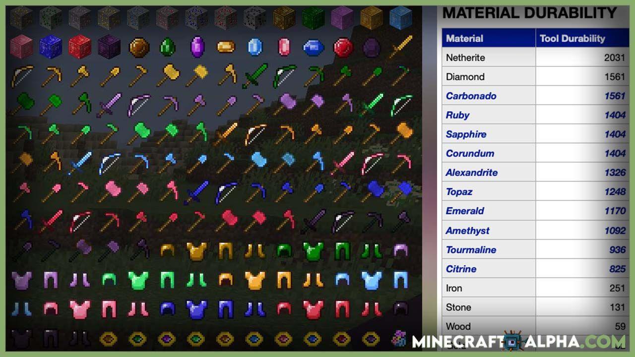 Minecraft More Gems Mod In 2021 Minecraft Gems Minecraft Mods