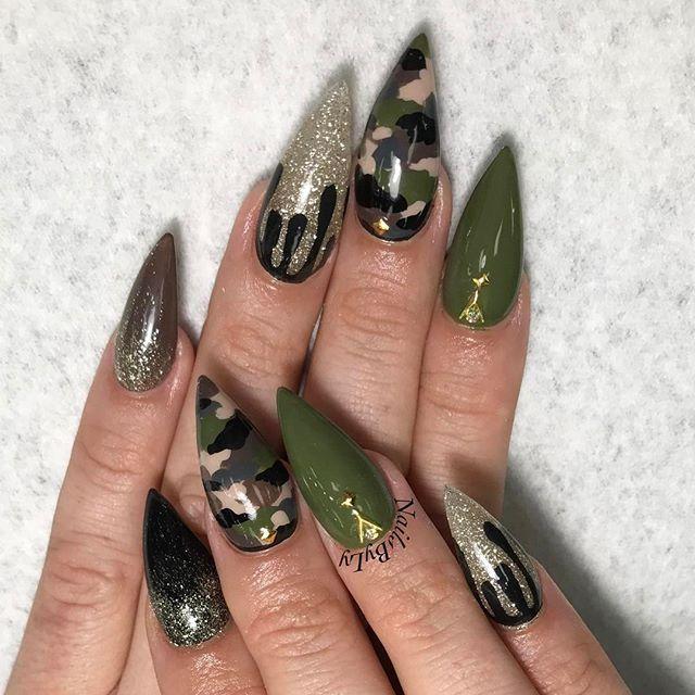 31 Camouflage Nail Designs ✨ CherryCherryBeauty.com - 31 Camouflage Nail Designs Nails Nails, Camouflage Nails, Nail