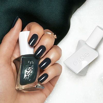 Wrap Party Deep Green At Home Gel Like Manicure Essie Gel Couture Essie Gel Essie Gel Couture Spring Nail Colors