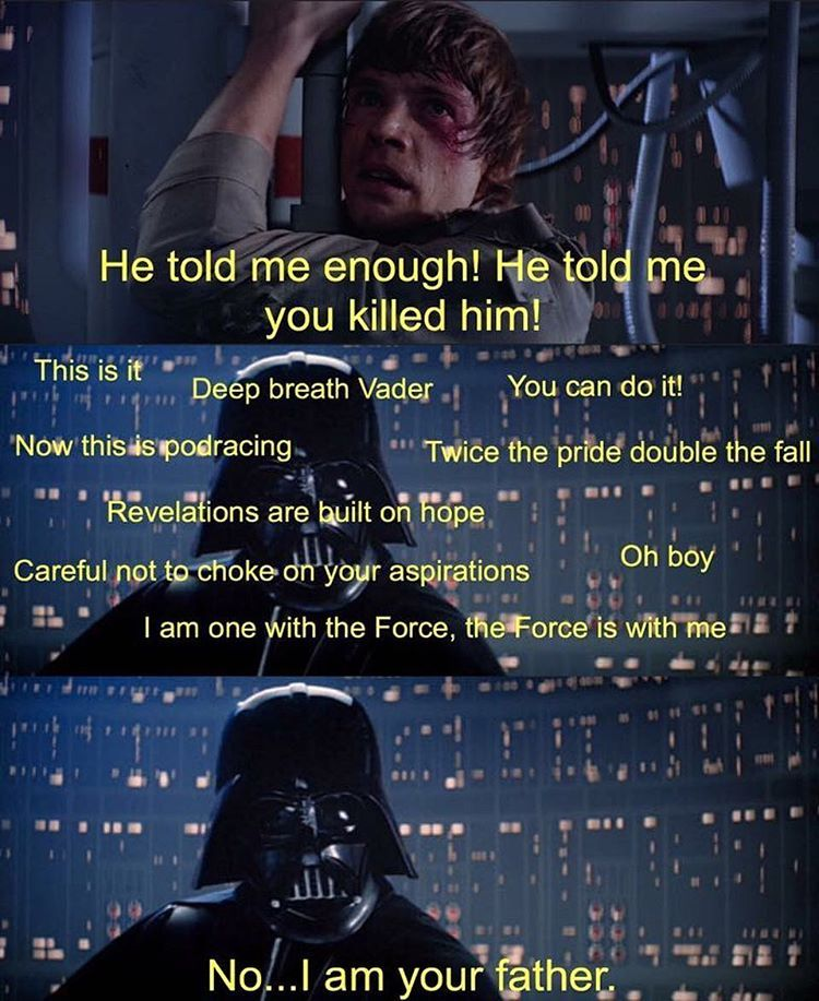 4 222 Likes 75 Comments Starwarsparody 501 On Instagram Building Up The Nerve Starwars Darthvader Luke Star Wars Jokes Star Wars Memes Star Wars Humor