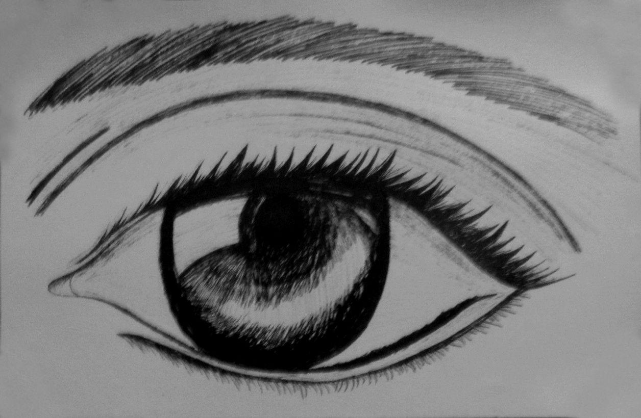 Dibujo De Un Ojo Hecho A Tinta China Tinta China Tinta Dibujos