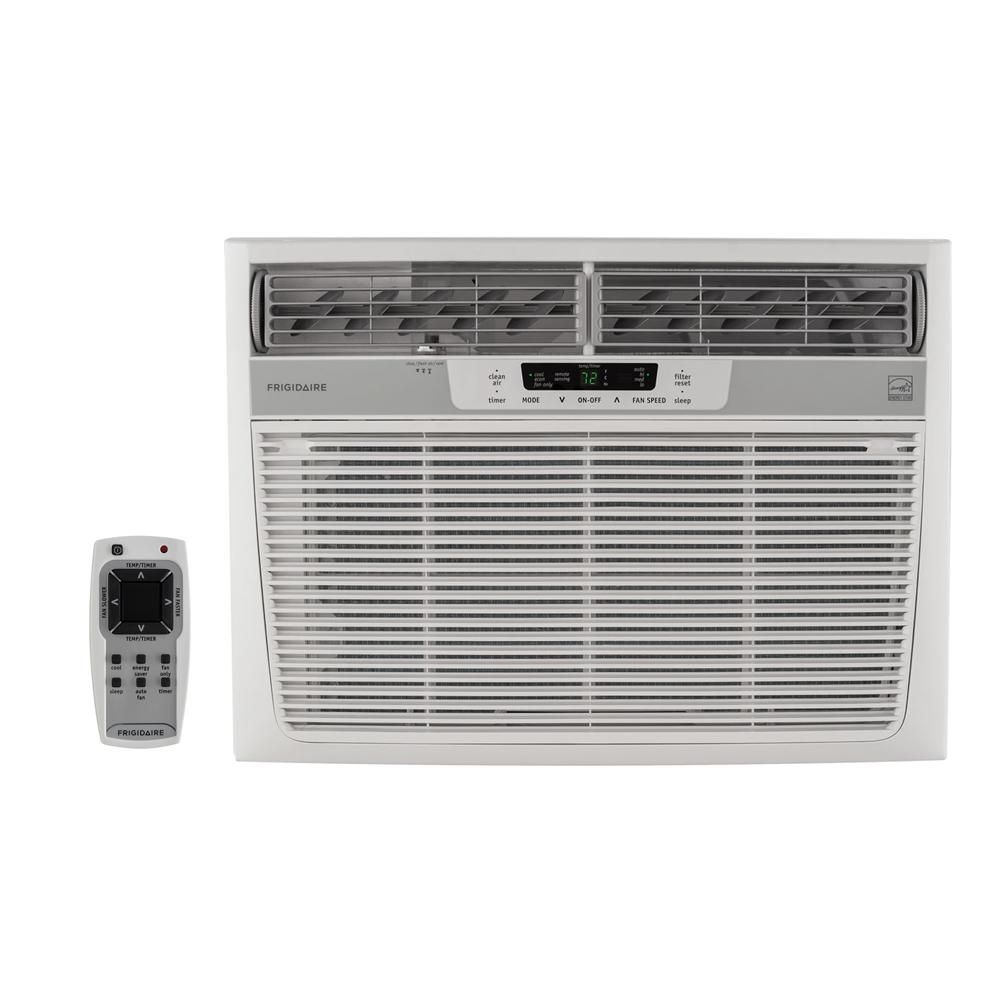 Frigidaire 15 000 Btu 115 Volt Window Mounted Median Air Conditioner With Temperature Sensing Remote Control