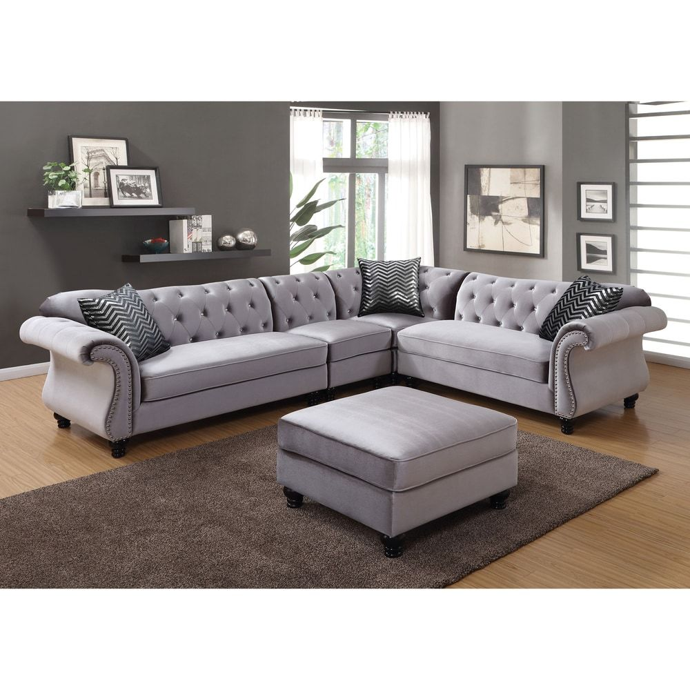 Overstock Com Online Shopping Bedding Furniture Electronics Jewelry Clothing More Grey Sectional Sofa Fabric Sectional Sofas Sectional Sofa