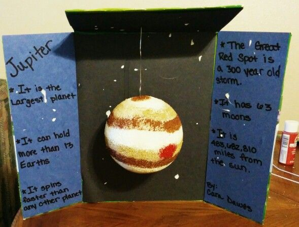 3rd Grade Jupiter Presentation | Planet project, Science ...
