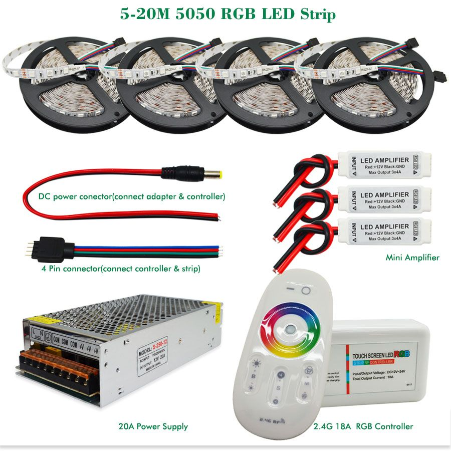 How To Install Led Light Strips Entrancing Dc12V Rgb Llevó La Tira Luz 5050 Smd Impermeableno Impermeable Review