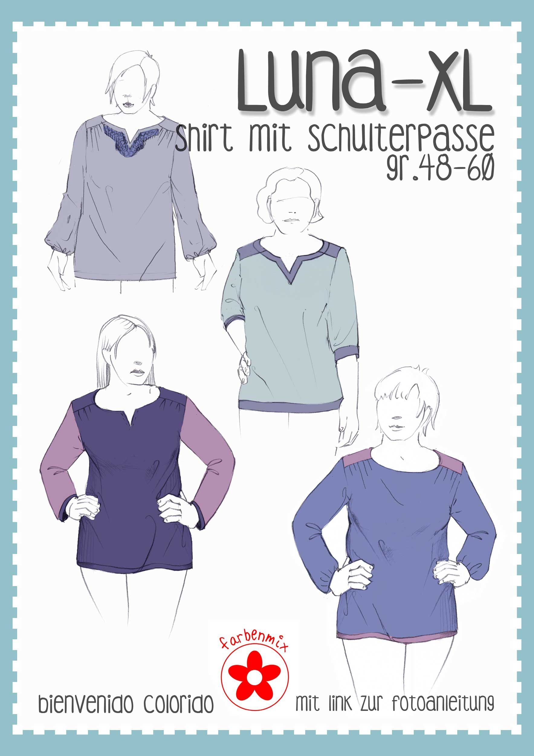 Photo of Luna XL, ladies fit shirt, pattern