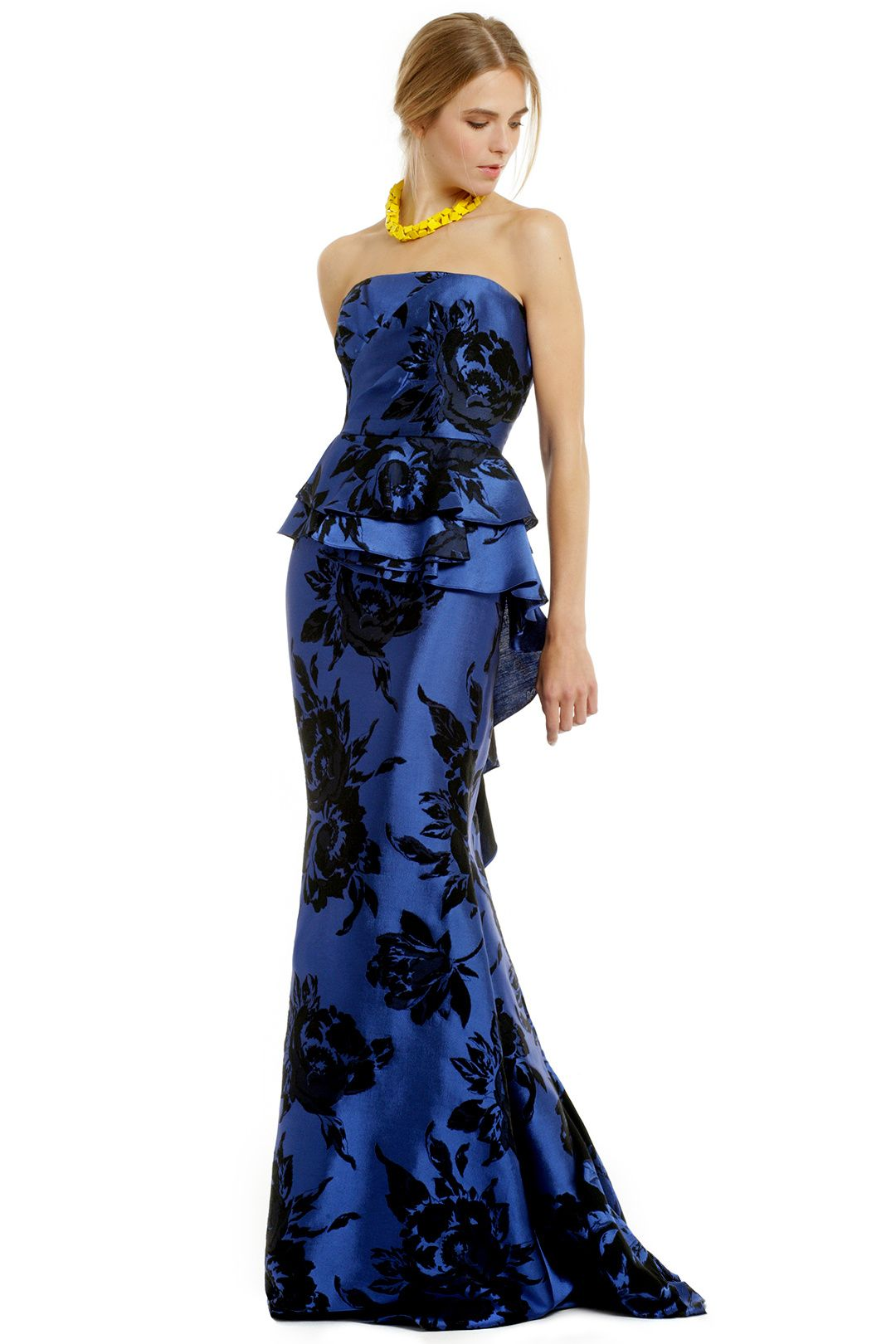 Stamped With Flowers Gown by Badgley Mischka ($990 retail or rent ...