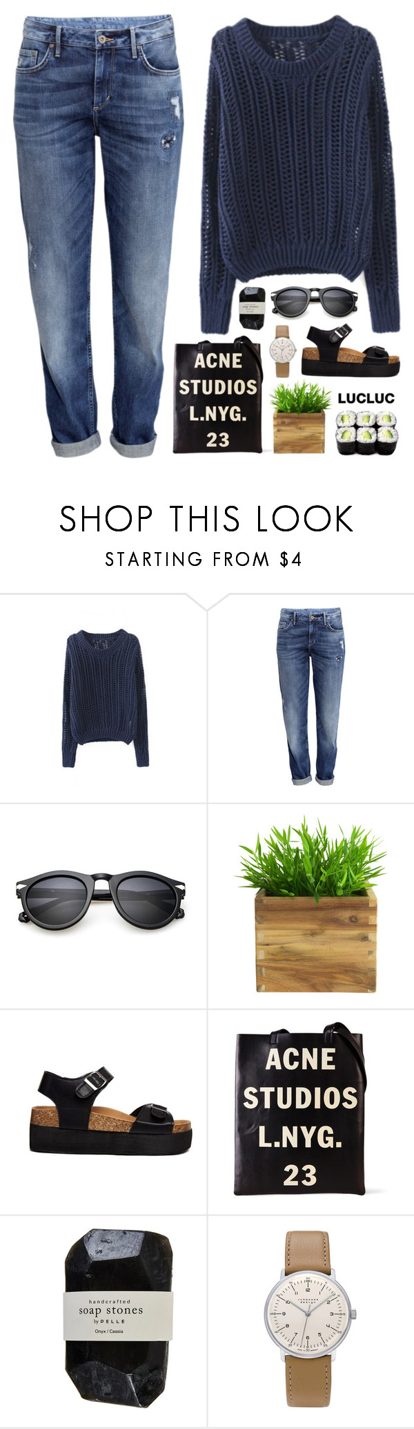 """""""what we want"""" by martosaur ❤ liked on Polyvore featuring H&M, Truffle, Acne Studios, Cassia and Junghans"""
