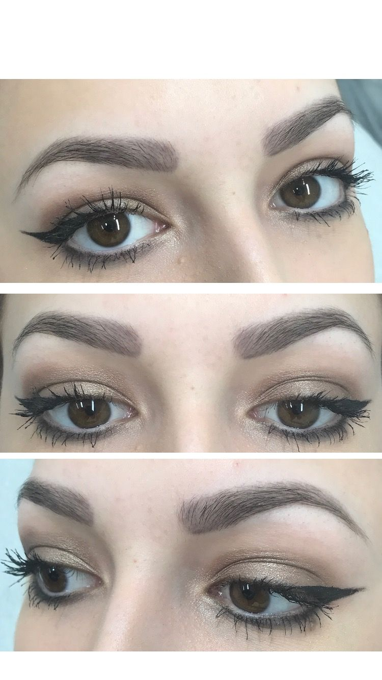 Healed Powder Brow Effect Get Glam Pinterest Brows Eyebrows