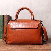 Hot-sale designer Women Oil Wax Leather Tote Bag Retro Shoulder Bags Handbags Online - NewChic Mobile