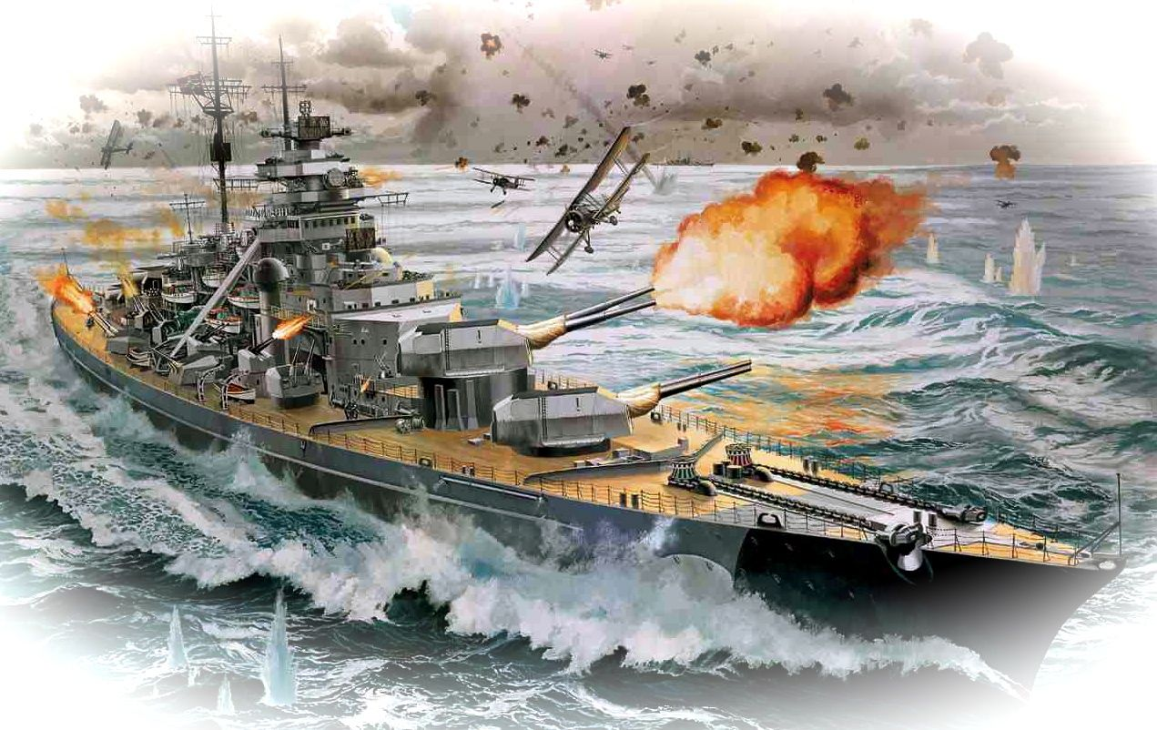 flygcforum.com - WW2 Sinking the Bismarck - With her steering jammed and her speed slashed by torpedo attacks, the Bismarck and her crew of 2,200 were a sitting duck for the Royal Navy...