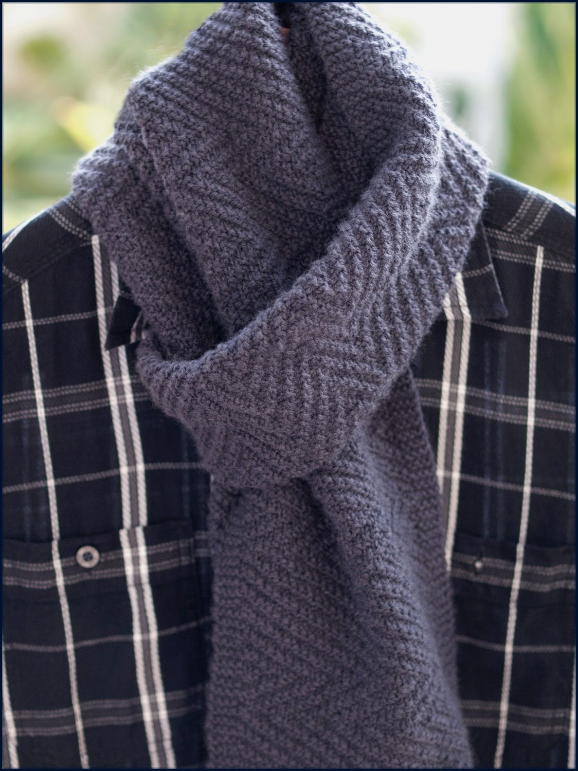 Lamberhurst Scarf Knitting Pattern - worked in a soft merino and cashmere yar...