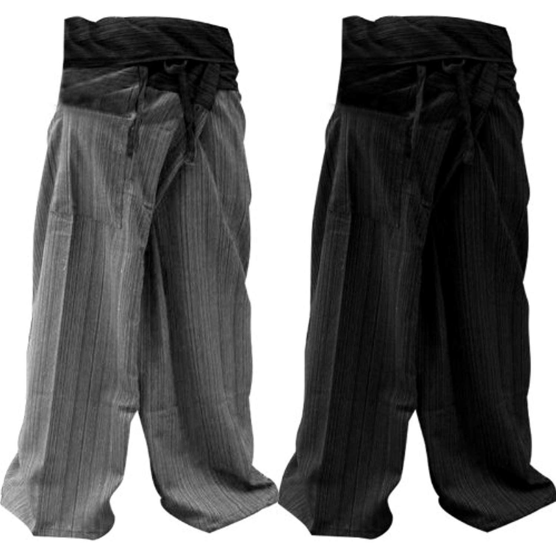 453ab1f0ca52c 2PACK- 2P001  Thai Fisherman Pants Yoga Trousers FREE SIZE Plus Size Cotton  Drill Dark BLUE